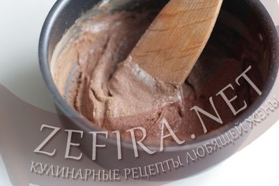 Шоколадняа глазурь из какао - второй шаг