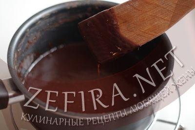Шоколадняа глазурь из какао на торт - шаг четвертый