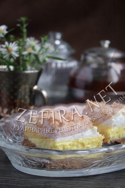 Шоколадный пирог с творогом - рецепт и фото