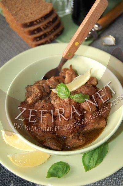 Свинина тушеная в пиве - рецепт и фото