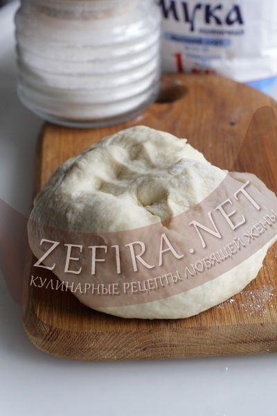 Тесто для пиццы на кефире - рецепт и фото