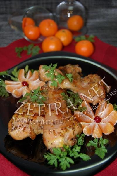 Курица с мандаринами - рецепт и фото