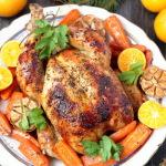 Новогодняя курица – рецепт с мандаринами и сладкой морковью