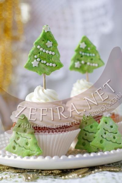 Новогодние апельсиновые кексы с шоколадом - рецепт и фото
