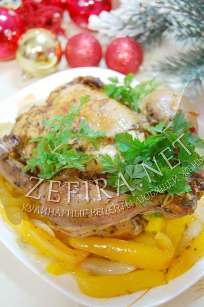 Рецепт курицы в духовке целиком с фото
