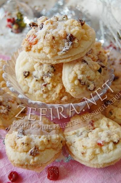 Слоеное печенье – рецепт с посыпкой с фото