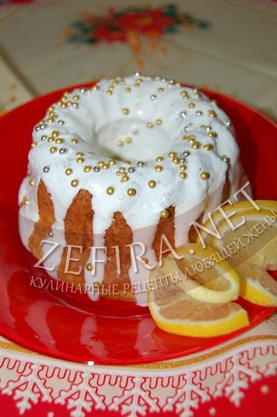 Творожный кекс с лимоном - рецепт и фото