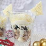 Вкусный салат с языком и сыром «Новогодний»