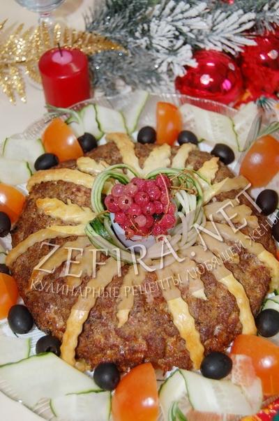 Запеканка из фарша в духовке - мясное кольцо с грибами и перепелиными яйцами - рецепт и фото