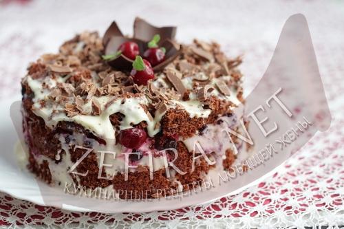 Шоколадный торт в микроволновке финальное фото