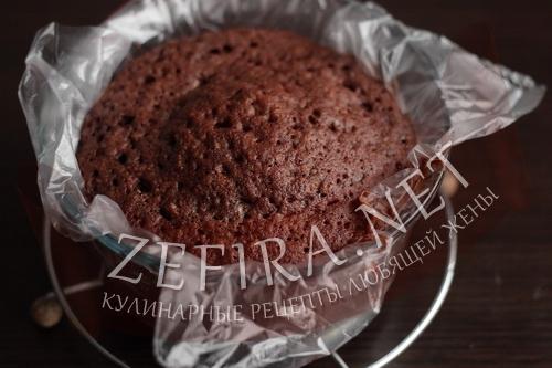 Шоколадный бисквит в микроволновке - этап5