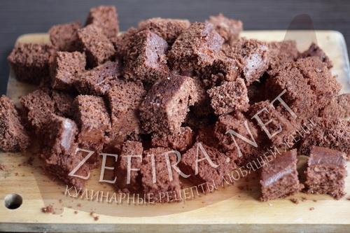 Шоколадный бисквит в микроволновке - этап6