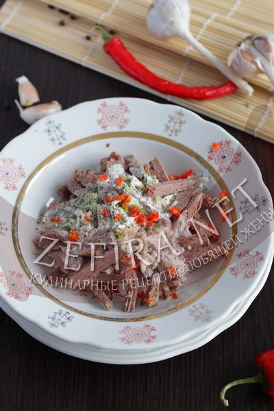 Закуска из говядины с острым соусом - рецепт и фото