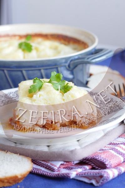 Запеканка из картофеля с фаршем в духовке - рецепт и фото
