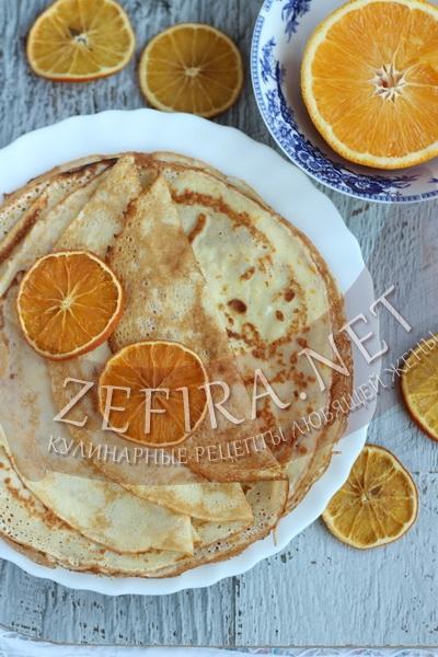 Апельсиновые блины - пошаговый рецепт и фото