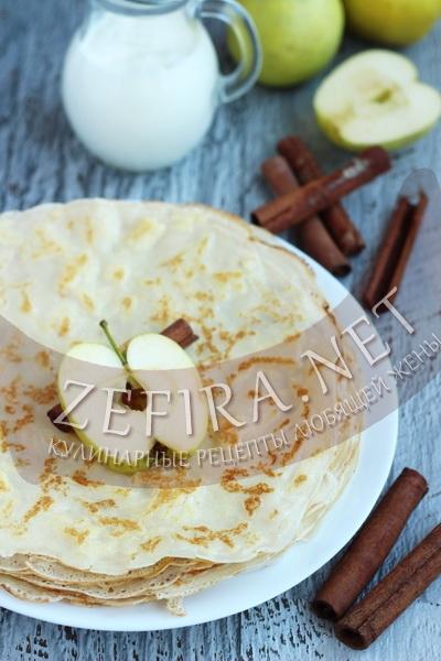Яблочные блины - рецепт и фото