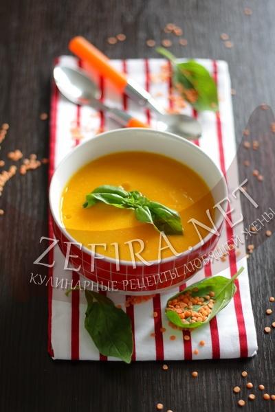 Суп-пюре из чечевицы с морковью - рецепт и фото