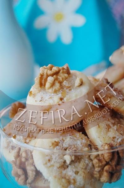 Песочное печенье с грецкими орехами - рецепт и фото