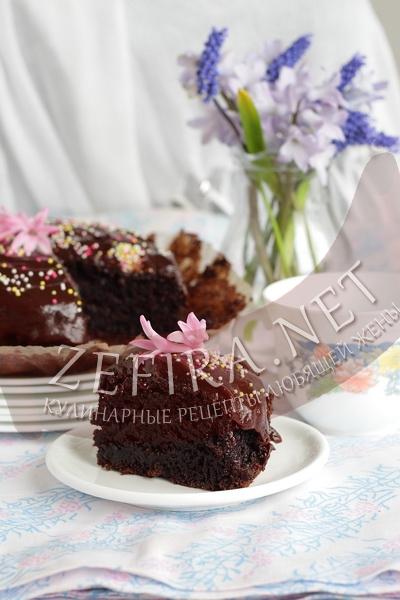 Постный шоколадный бисквит без яиц - рецепт и пошаговые фото