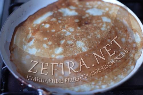 Тонкие блинчики на кефире - 7 шаг приготовления
