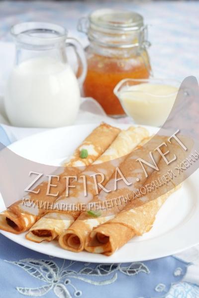 Вкусные тонкие блинчики на кефире - рецепт и фото