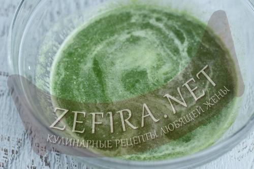 Зеленые блины со шпинатом - 1 шаг