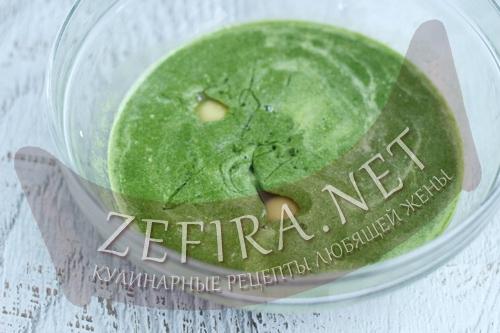 Зеленые блины со шпинатом - 2 шаг