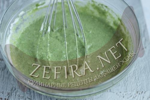 Зеленые блины со шпинатом - 4 шаг