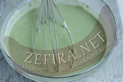 Зеленые блины со шпинатом - 5 шаг