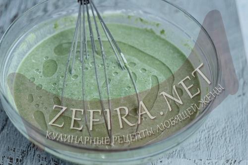 Зеленые блины со шпинатом - 6 шаг