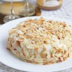 Быстрый медовый бисквитный торт в микроволновке