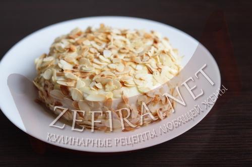 Быстрый медовый бисквитный торт в микроволновке - шаг8