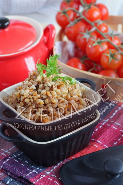 Гречневая каша с овощами - рецепт и фото