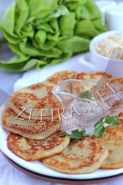 Постные картофельные драники без яиц - рецепт и фото