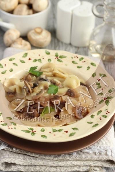 Постный грибной соус к макаронам - рецепт и фото