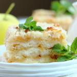 Постный насыпной яблочный пирог