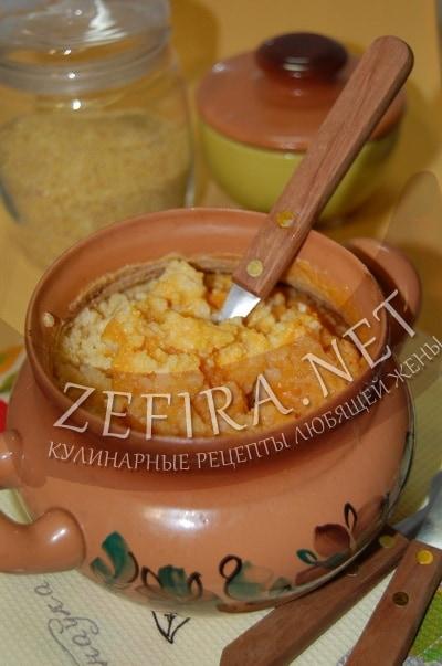 Пшенная каша с тыквой в горшочке - рецепт и фото