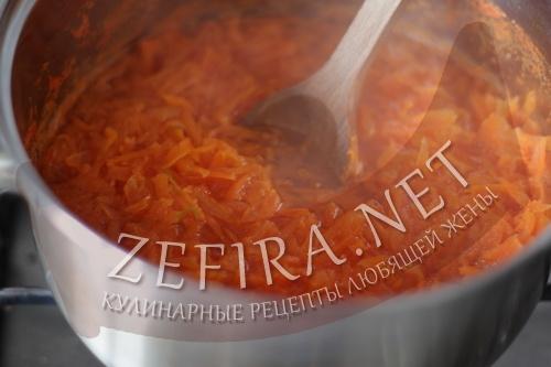 Рулет из моркови с сыром - приготовление шаг 1