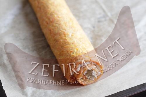 Рулет из моркови с сыром - приготовление шаг 11