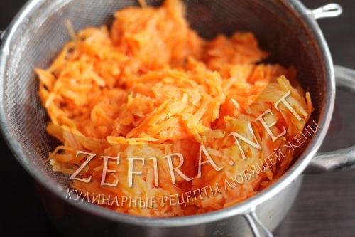 Рулет из моркови с сыром - приготовление шаг 2