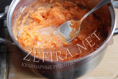 Рулет из моркови с сыром - приготовление шаг 3