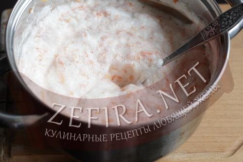 Рулет из моркови с сыром - приготовление шаг 5