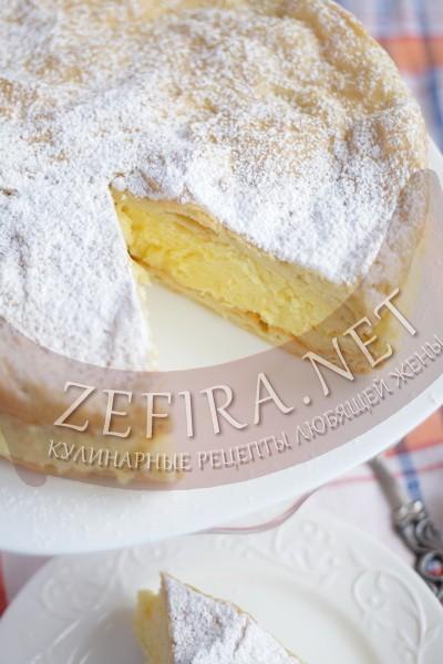 Заварной пирог с заварным кремом «Карпатка» - рецепт и пошаговый фото