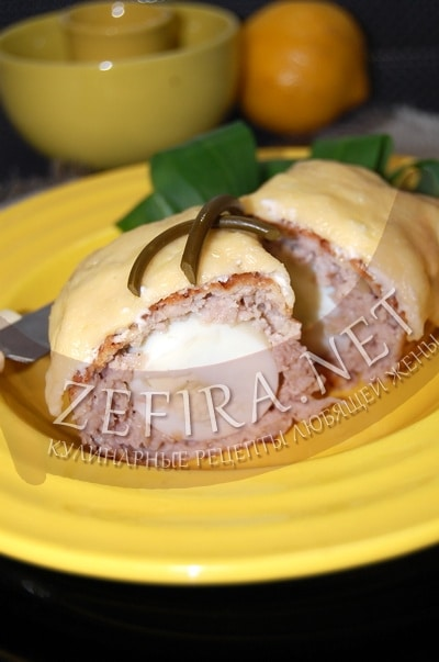 Яйца в мясном фарше - рецепт и фото