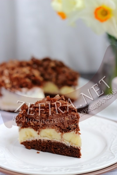 Простой рецепт шоколадного торта с бананами (с фото)