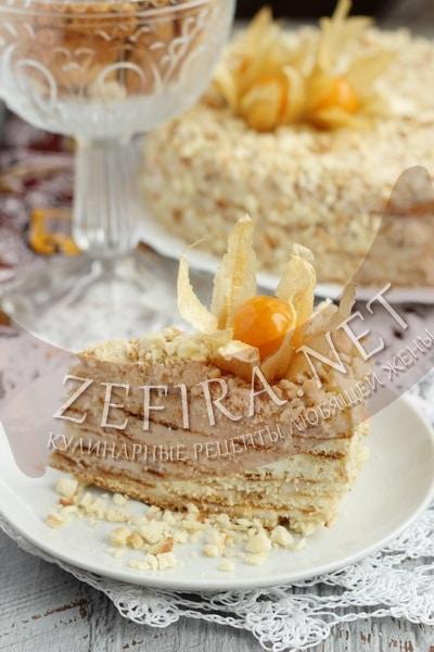 Простой сметанный торт на сковороде - рецепт и фото
