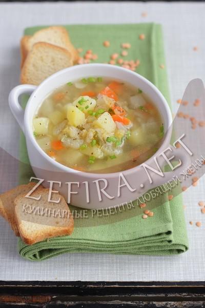 Суп из чечевицы с курицей - рецепт и фото