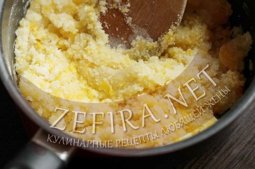 Торт на сковороде со сгущенкой - крем шаг 2