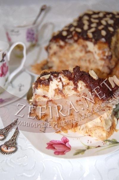Торт «Полено» из слоеного теста - рецепт и фото