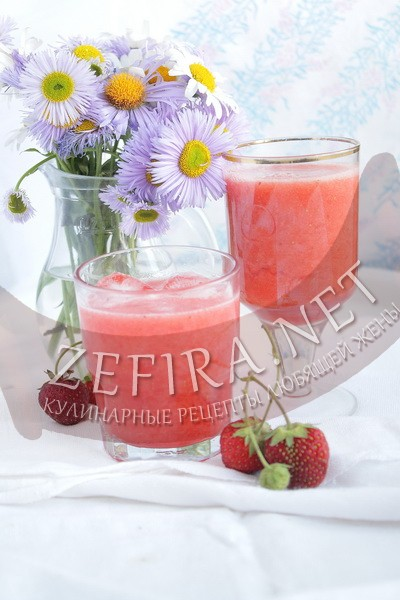 Домашний клубничный лимонад - рецепт и фото